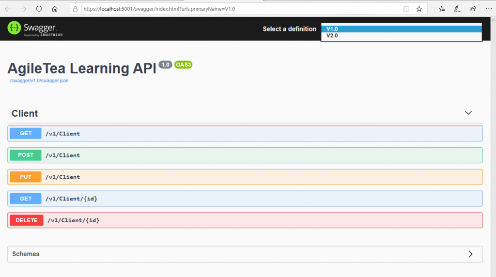 Web Api Versioning with Swagger – jones